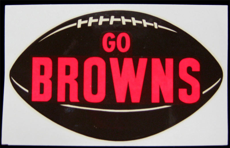 Cleveland Browns RARE Original 1964 Window Decal NFL Champions Jim Brown vintage Decal