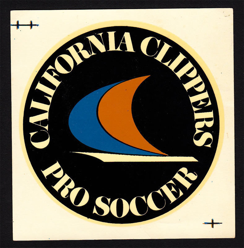 Oakland California Clippers RARE Original 1967 Pro Soccer Decal vintage NASL Decal