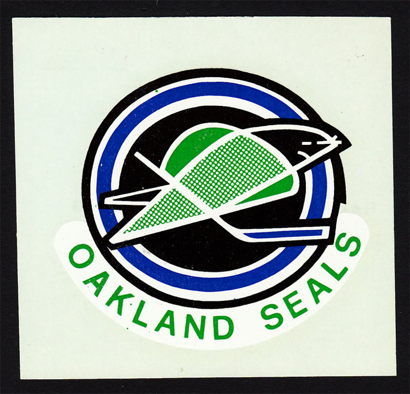 Oakland Seals 1968 Hale Window Sign (Decal) Decal