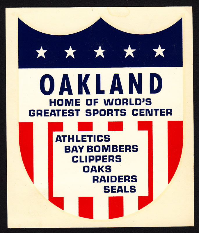 Oakland California 1968 Hya Lac Decal A's Clippers Oaks Raiders Seals Decal
