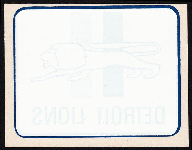 Detroit Lions RARE Original 1960's Helmet Logo Window Sticker NFL vintage Decal