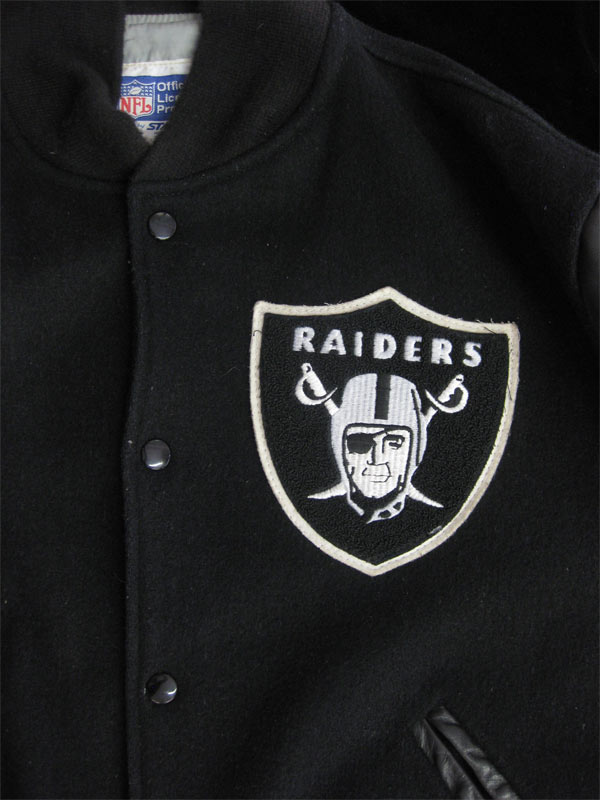 best value e0074 2fd0b Details about Authentic 1980's Raiders Starter Leather/Wool Jacket VTG L  Los Angeles Oakland