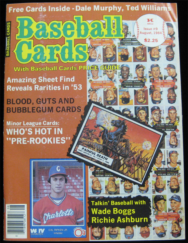 Details About Baseball Cards Magazine 9 1984 Complete Wdale Murphy Ted Williams Wade Boggs