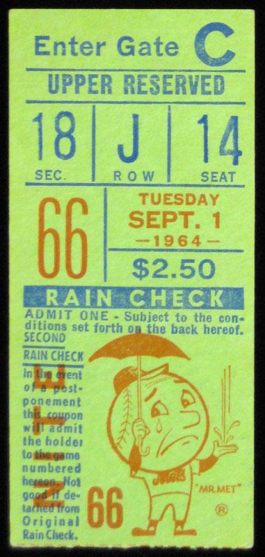 New York Mets San Francisco Giants Ticket