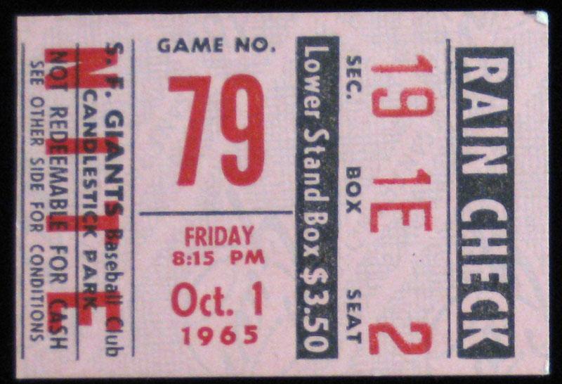 San Francisco Giants Ticket