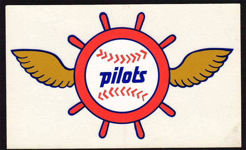 seattle pilots rare original 1969 decal vtg mlb vintage