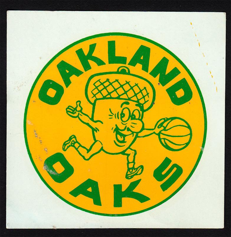 Oakland Oaks Basketball Decal