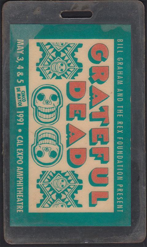 Grateful Dead Cinco De Mayo Pass Laminate
