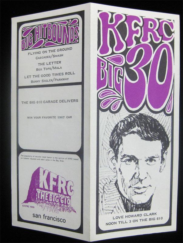 KFRC Big 30 7/26/1967 Radio Survey