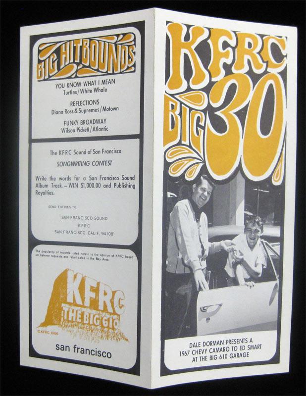 KFRC Big 30 8/2/1967 Radio Survey