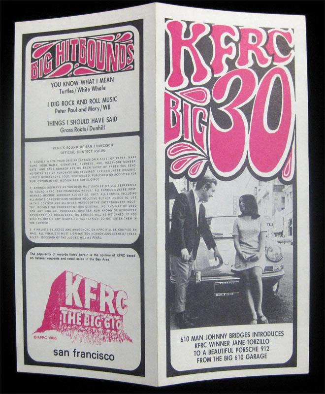 KFRC Big 30 8/9/1967 Radio Survey