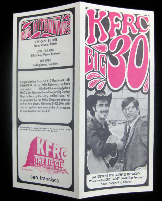 KFRC Big 30 9/6/1967 Radio Survey