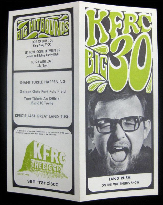 KFRC Big 30 9/13/1967 Radio Survey