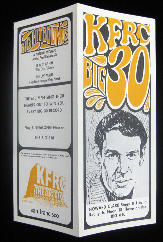 KFRC Big 30 9/27/1967 Radio Survey