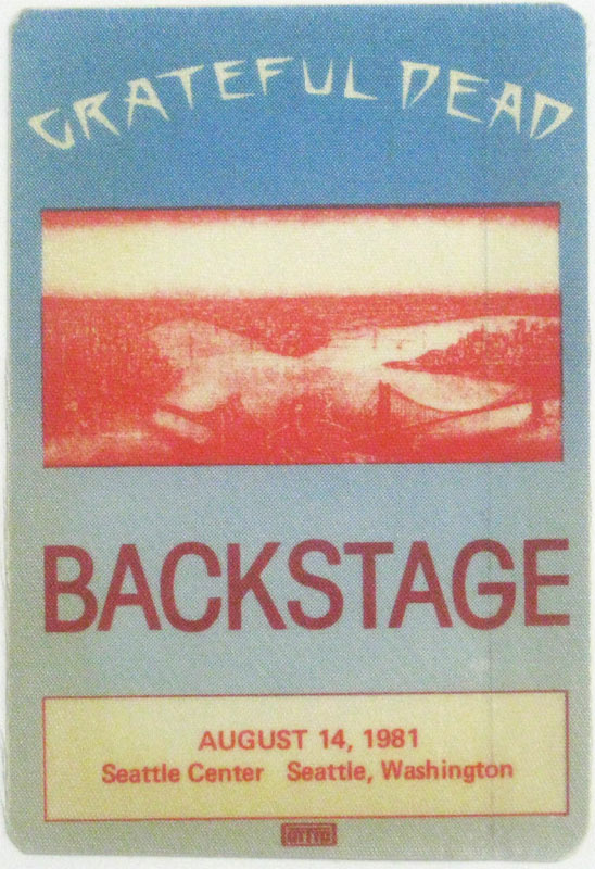 Grateful Dead 8/14/1981 Seattle Backstage Pass
