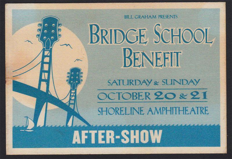 Bill Graham Presents 15th Annual Bridge School Benefit After-Show Backstage Pass