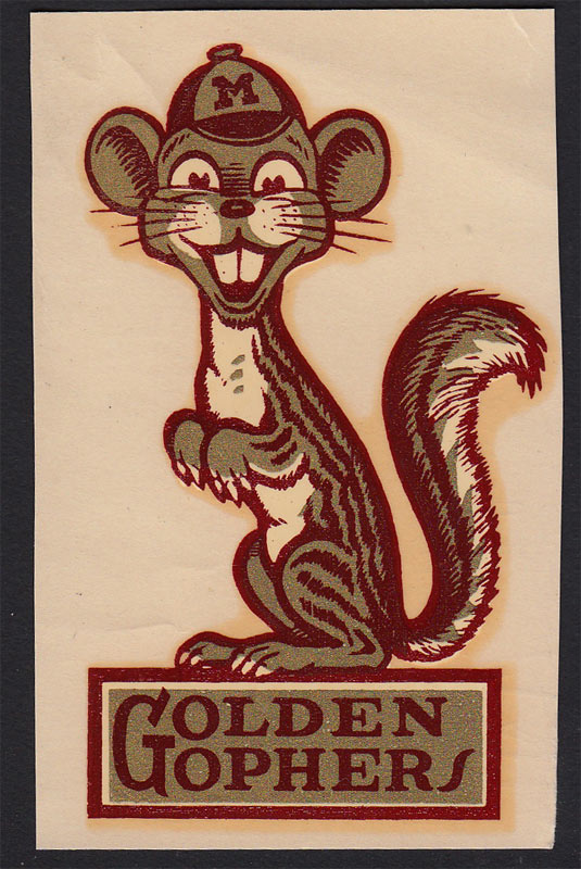 University of Minnesota Golden Gophers Decal