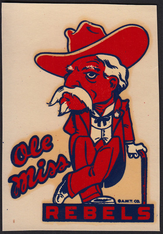 University of Mississippi (Ole Miss) Rebels Decal