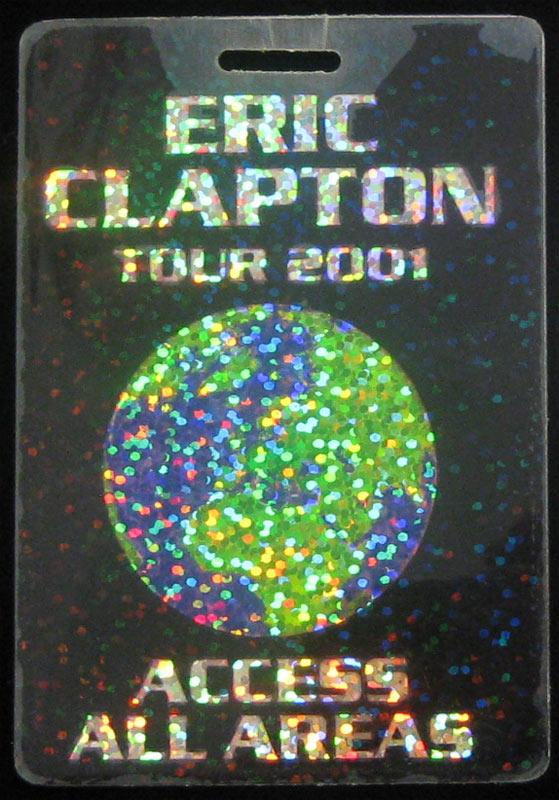 Eric Clapton World Tour 2001 Access All Areas Laminate