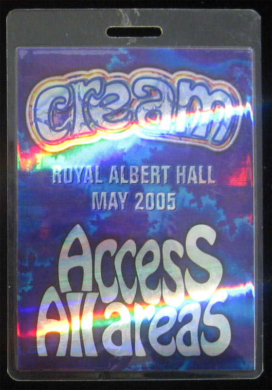 Cream 2005 Access All Areas Royal Albert Hall Laminate