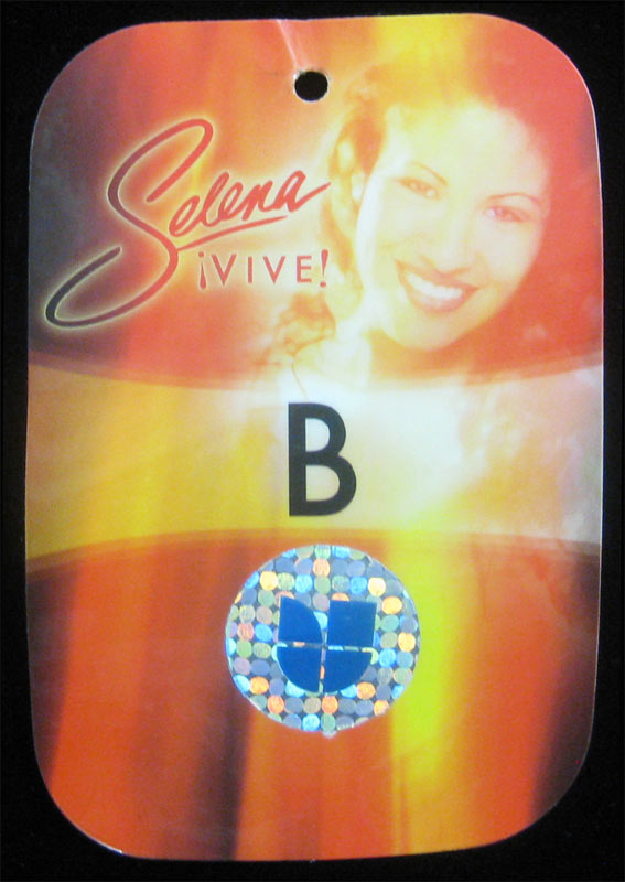 Selena Quintanilla Perez Vive Tour 2005 Wardrobe Backstage Pass Laminate