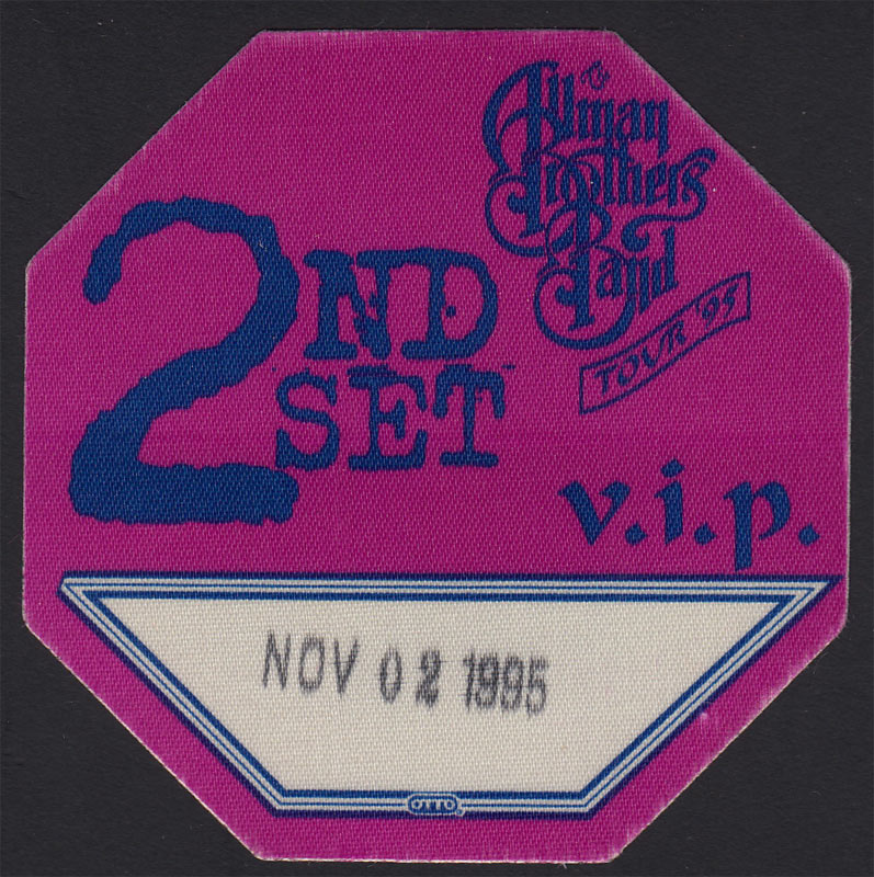 Allman Brothers Band Backstage Pass