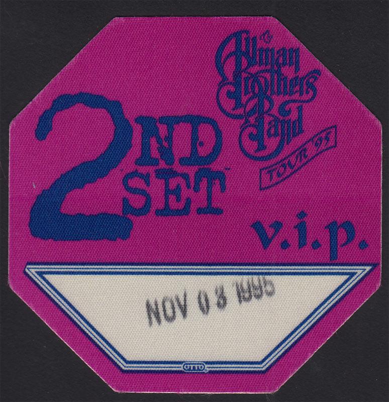 Allman Brothers Band Backstage Pass