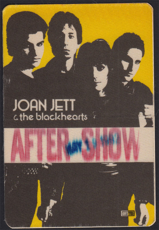Joan Jett and the Blackhearts After Show Backstage Pass