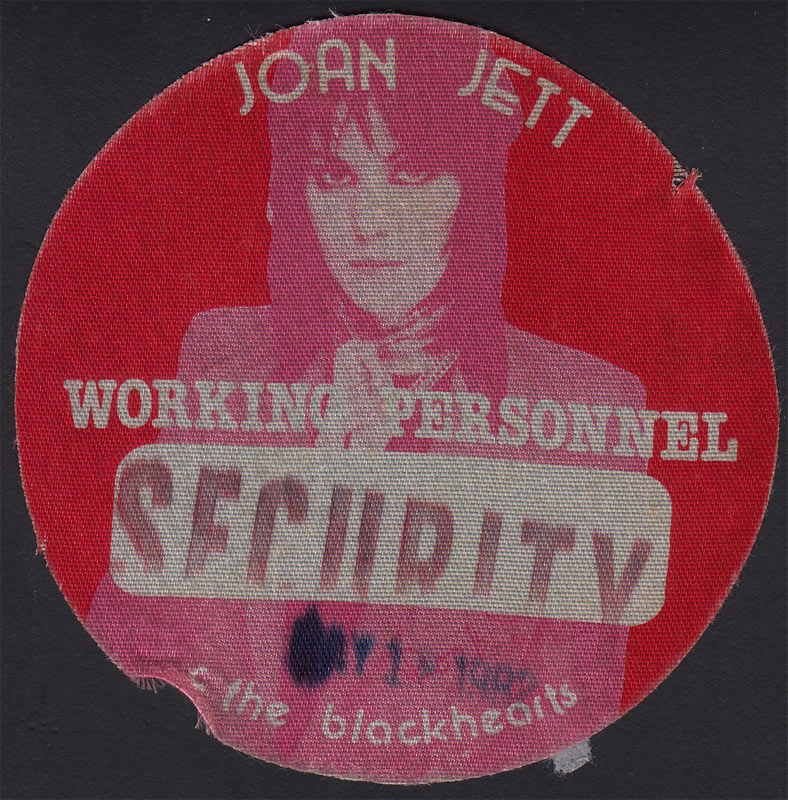 Joan Jett and the Blackhearts Security Backstage Pass