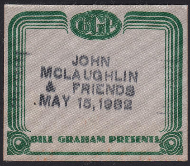 John McLaughlin and Friends Backstage Pass