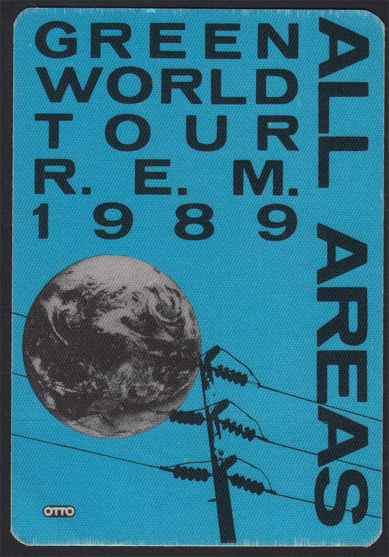 R.E.M. Green World Tour 1989 REM All Areas Backstage Pass
