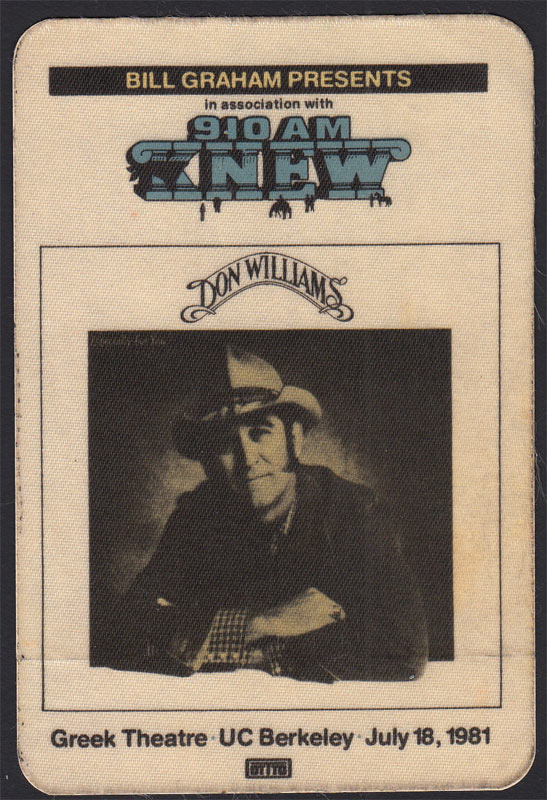 Don Williams Backstage Pass