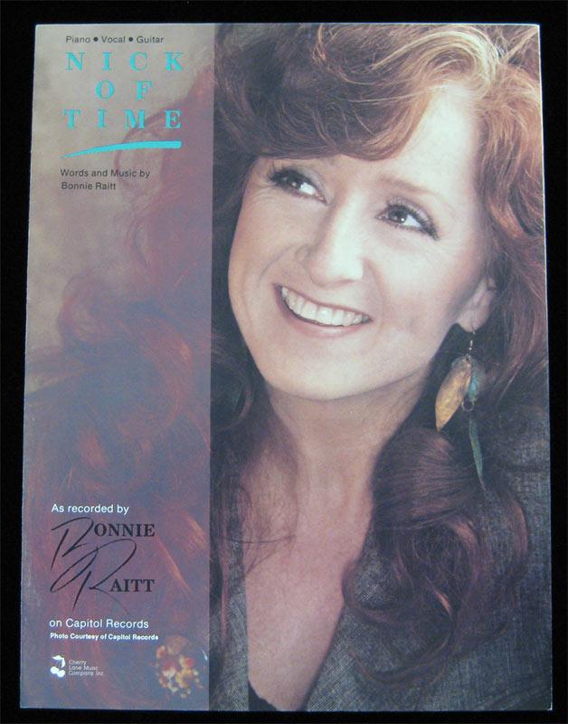 Bonnie Raitt 1989 Nick of Time Piano Vocal Guitar Sheet Music