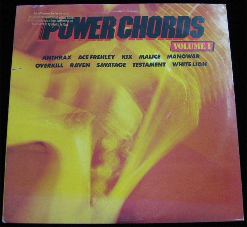 Power Chords Rare Promo Vinyl Lp Anthrax Overkill Testament