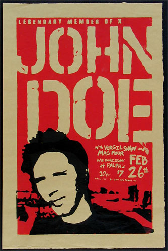 Lon Jerome John Doe (of X fame) Poster