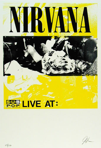 Nirvana Sub Pop Tour Poster