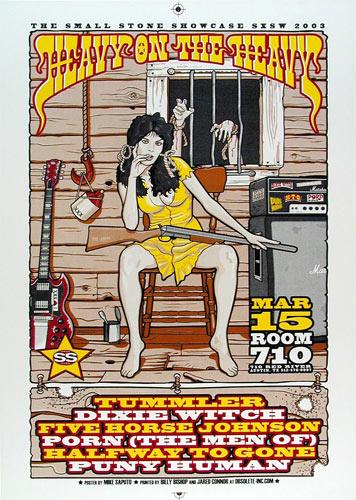 Mike Saputo Heavy on the Heavy SXSW Showcase 2003 Poster