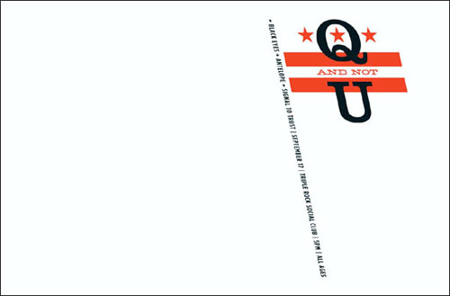 Aesthetic Apparatus Q And Not U Poster