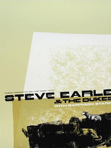 Aesthetic Apparatus Steve Earle Poster