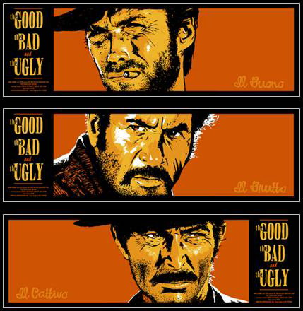 Billy Perkins The Good The Bad and the Ugly Movie Poster Set