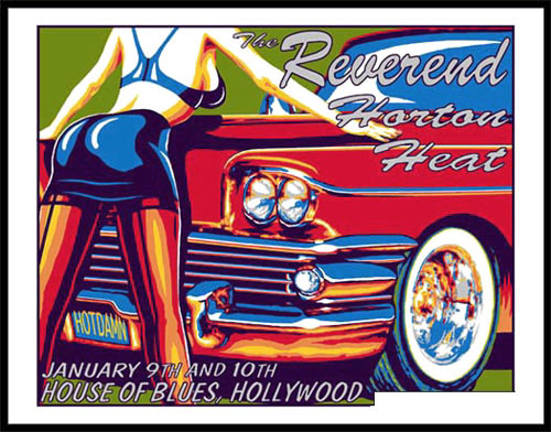 Marco Almera Reverend Horton Heat Poster