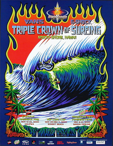 Marco Almera  Triple Crown Of Surfing Poster