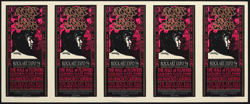 Mark Arminski Rock Art Expo Uncut Handbill Sheet