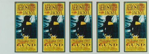 Mark Arminski Aerosmith Uncut Handbill Sheet