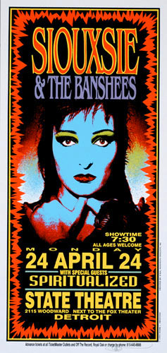 Mark Arminski Siouxsie & The Banshees Poster