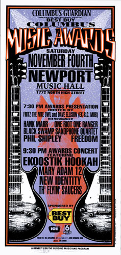 Mark Arminski Columbus Music Awards Handbill