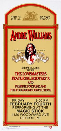 Mark Arminski Andre Williams Handbill