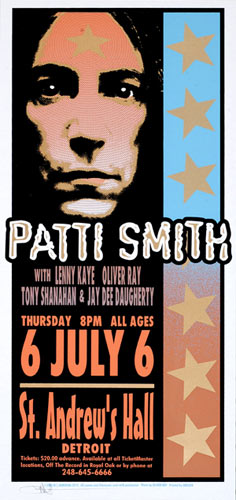 Mark Arminski Patti Smith Handbill