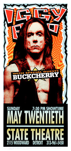 Mark Arminski Iggy Pop Poster