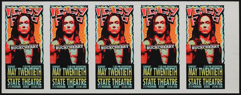 Mark Arminski Iggy Pop Uncut Handbill Sheet